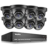 Sannce 8CH 1080P HD CCTV DVR Security Camera System+ 8 2.1MP Indoor/ Outdoor