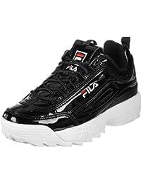 Vulc para hombre con estampado de diseño de zapatos con texto 13 Zapatillas con cachorros de perros Fila, color negro, talla 43