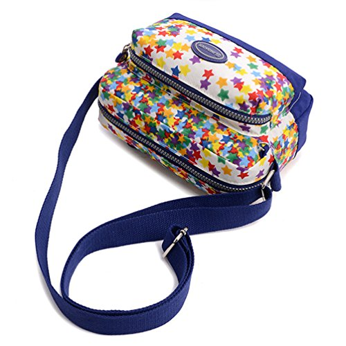 Tiny Chou (TM)-Mini leggera impermeabile in Nylon da viaggio a tracolla Messenger-Borsa a tracolla per bambine Multicolore (Multicolore)