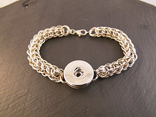 Armband Click Button Chainmail Chainmaille Kettenhemd CLICKI
