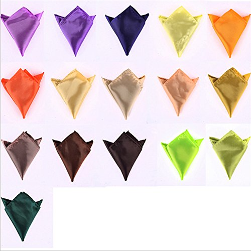 Sitong Hommes Solid Color Pocket Squares Mouchoirs de mariage 10