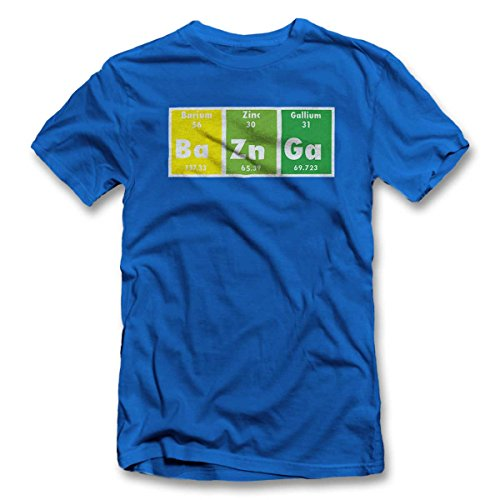 Bazinga Elements T-Shirt S-XXL 12 Farben / Colours Royal Blau