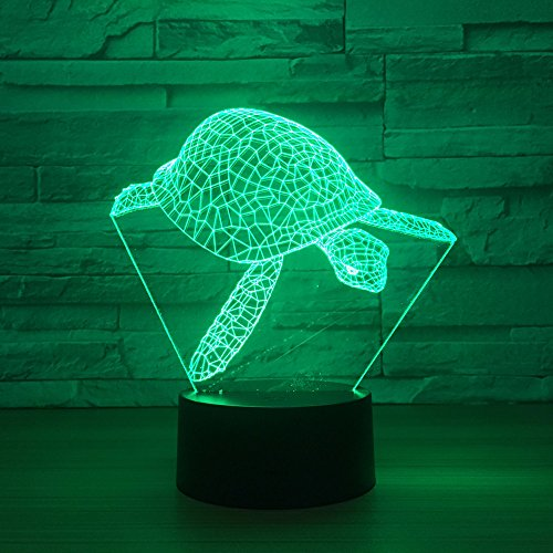ampe / 7 Farbwechsel Touch Nachtlicht/Baby Schlafzimmer Dekoration/Kinder Geschenk/Meeresschildkröte ()