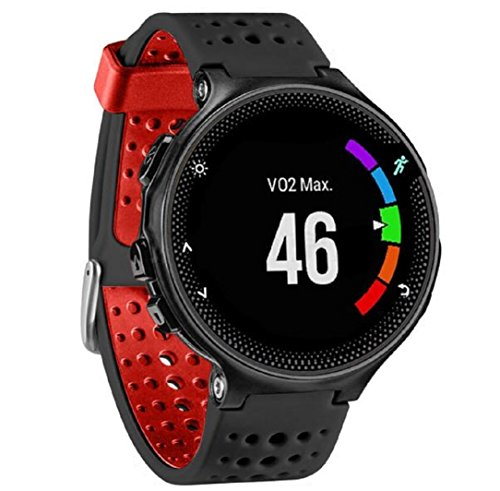 für Garmin Forerunner 230/235/630,Culater Luxus Bunte Cool Weichem Silikon Ersatz Handgelenk Uhrenarmband Riemen (Schwarz Ohne Werkzeuge)