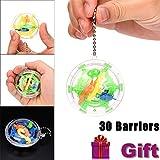 Clode 30 Barrières Mini Ball Maze Intellect 3D Puzzle Jouet Balance Barrière Magique Labyrinthe Spherica