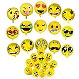 Zhiheng (Paquete de 25) Surtidos Emoji Globos de Mylar...