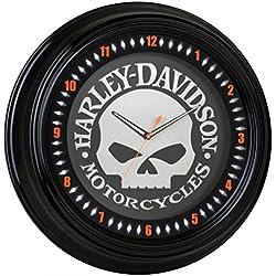 Harley-Davidson Classic Willie G Skull White Neon Clock, 18 pulgadas