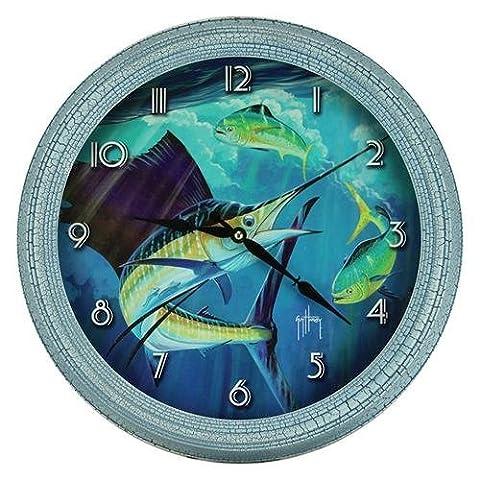 River's Edge Guy Harvey Sailfish Clock, 15 by River's Edge Products