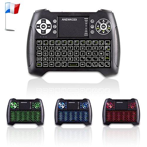 ANEWKODI Mini Wireless Backlit Keyboard with Touchpad