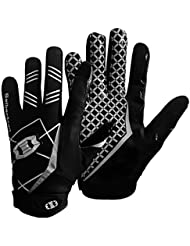 Seibertron Pro 3.0 Elite Ultra-Stick Sports Receiver Glove American Football Gloves Youth and Adult Black L