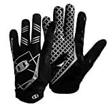 Seibertron Pro 3.0 Elite Ultra-Stick Sports Receiver Gloves/guanti da football americano pro ricevitore Gioventù e Adulti nero S