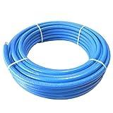 50m Alu Mehrschicht Verbundrohr PEX/AL 16x2mm 20x2mm blau isoliert DVGW Größe 16 x 2 mm / 50 m Rolle