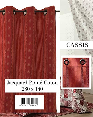 Großer Vorhang, Leinen natur Hat Ösen Höhe 320cm Verdunkelungsvorhang schwere, rot, 320 CM - Bng Natürlichen