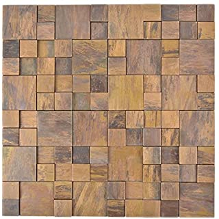 Mosaik Fliese Kupfer Kupfer Kombination 3D Braun Für WAND BAD WC DUSCHE  KÜCHE FLIESENSPIEGEL THEKENVERKLEIDUNG BADEWANNENVERKLEIDUNG