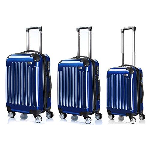 LDUDU ® Equipaje Maleta rígida Maleta con ruedas Maleta de viajes Equipaje de cabina Equipaje de mano,57 cm,35 litros,4 Ruedas,Azul oscuro