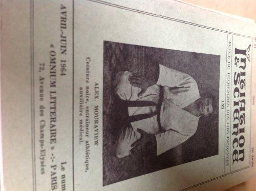 revue initiation et science Revue de recherches des lois inconnues n° 61 1964 Egypte Astrologie Table d'emeraude Isis villiers Dictionnaire alchimique