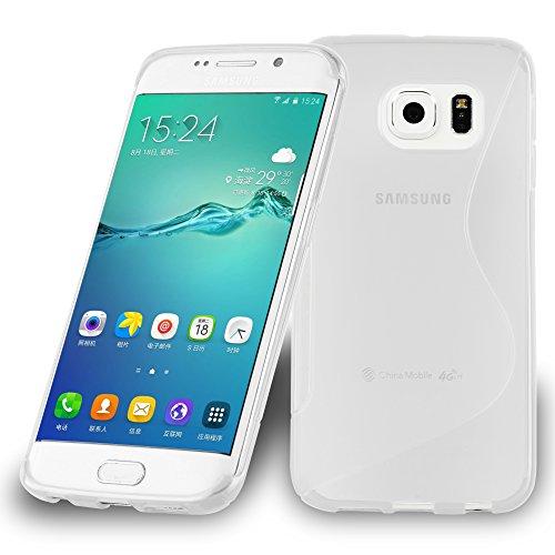 Preisvergleich Produktbild Cadorabo DE-105359 Samsung Galaxy S6 Edge Handyhülle aus flexiblem TPU Silikon im S-Line Design Transparent