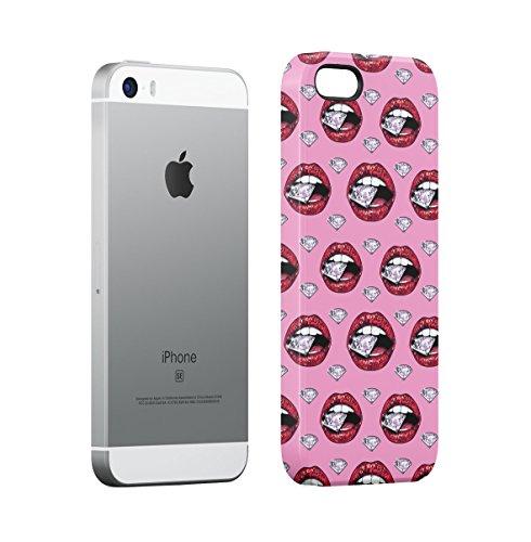 Leaking Diamond Cosimc Galaxy Space Stars Apple iPhone 5 , iPhone 5S , iPhone SE Snap-On Hard Plastic Protective Shell Case Cover Custodia Diamond Lips