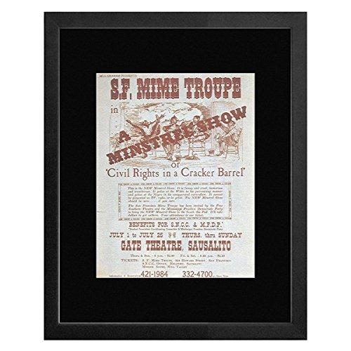 civil-rights-in-a-cracker-barrel-gate-theater-sausalito-1965-framed-mini-poster-20x18cm