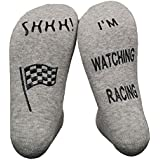 Vinsani® 'Shhh! I'm Watching Racing' Funny Ankle Socks - Gift For Racing Lovers