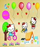 Wandaufkleber Wandtattoo Wandsticker Hello Kitty Kind Kinderzimmer WAK-027