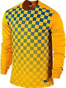 Nike Long Sleeve Top Precision Iii Jersey, Uomo, Jersey Precision III LS, University Gold/Football White, S
