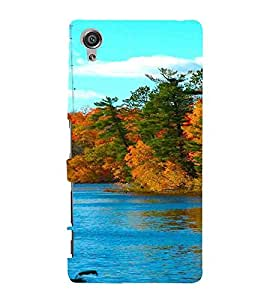 For Sony Xperia X :: Sony Xperia X Dual F5122 Lake, Multicolor, Lake with greenery, nice pattern, Printed Designer Back Case Cover By CHAPLOOS