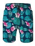 uideazone Uomo Costumi da Bagno Leisure Travel Hawaii Foglie di Palma Short Pantaloncini da Surfe