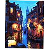 Phenovo DIY Acrylic Painting By Numbers Kit Mediterranean Scenery On Canvas Abstract Art Painting Picture Set - #6, As Described