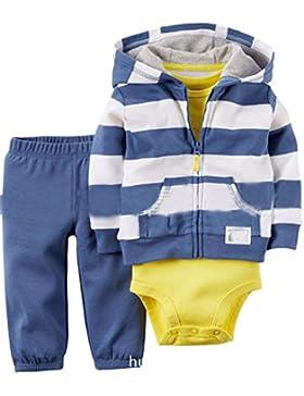 [Patrocinado]Kidsform Conjuntos Ninos Chaquetas Rompers Mono Bodies Jumpsuit Algodón Pantalones 3 Piez