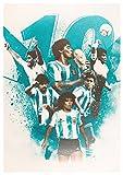Poster Napoli (A) D. A. Maradona - Formato A3 (42x30 cm)
