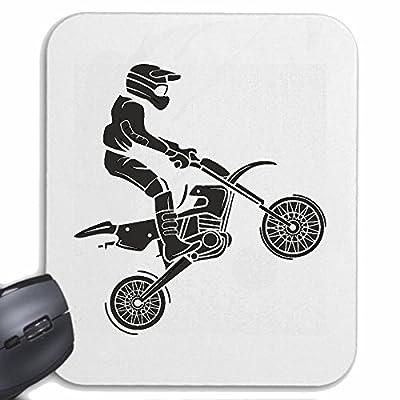 "Mousepad (Mauspad) "" MOTOCROSS SILHOUETTE 125CCM MOTO-CROSS FREESTYLE MOTOCROSS MOTORRAD SPORT BEKLEIDUNG BIKER MOTORRAD BIKE MASCHINE"" für ihren Lapt"