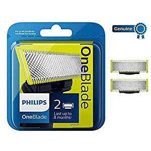 Philips QP220/50 Genuine UK OneBlade Replacement Blade, Pack of 2