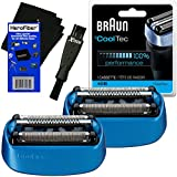 Braun 40B Replacement Shaving Foil Head & Cutter Cartridge (2 Pack) For ºCoolTec CT2s, CT2cc, CT3cc, CT4s, CT4cc...