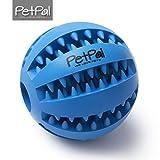 Hundeball mit Zahnpflege-Funktion Noppen von PetPäl   Hundespielzeug aus Naturkautschuk   LanglebigerHunde Ball Ø 7cm   Hundespielball für Große & Kleine Hunde   Kauspielzeug aus Naturgummi für Leckerli