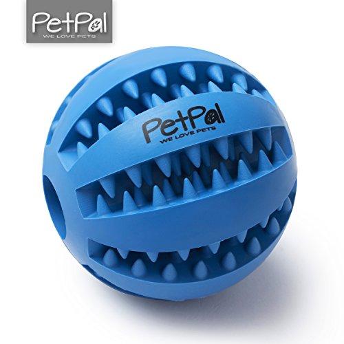 Hundeball mit Zahnpflege-Funktion Noppen von PetPäl   Hundespielzeug aus Naturkautschuk   RobusterHunde Ball Ø 7cm   Hundespielball für Große & Kleine Hunde   Kauspielzeug aus Naturgummi für Leckerli