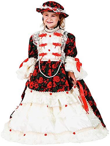 Carnevale Venizano CAV8923-L - Kinderkostüm Madame Pompadour - Alter: 7-10 Jahre - Größe: L (Madame De Pompadour Kostüm)