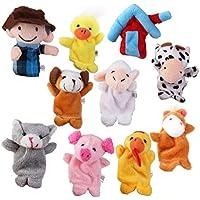 10pcs Juguetes Marioneta de Mano Títeres de Dedos Juegos Infantiles - Peluches y Puzzles precios baratos