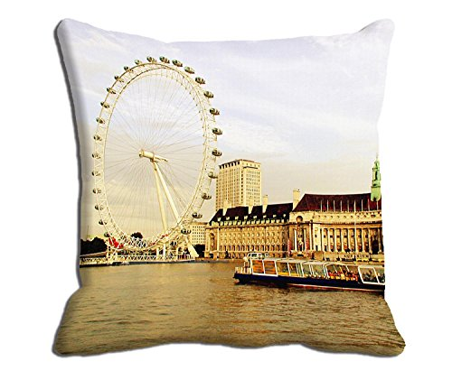 meSleep Beige Wheel City Cushion Cover  available at amazon for Rs.175