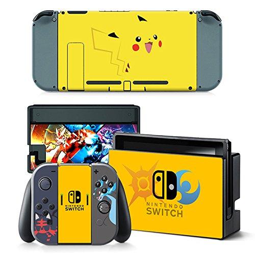 Nintendo Switch + Controller Aufkleber Schutzfolien Set - Pokemon /Switch
