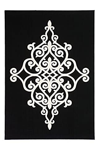 Moderner Designer Teppich Maroc 2089 Schwarz Schwarz 160cm x 230cm 100% Polypropylen