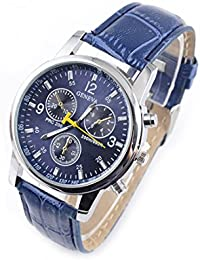 YELLOW CHIMES Blue Dial Blue Strap Analog Watch For Men And Boys