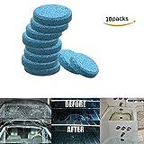 Konesky Tergicristalli per auto Pulizia parabrezza per auto Parabrezza Lavavetri Detergente per pulizia Tergicristallo solido (10 pezzi)