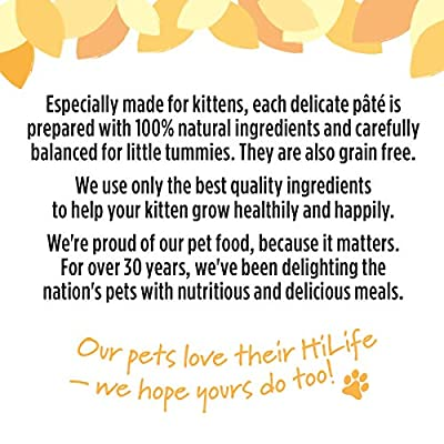 HILIFE It's Only Natural Kitten Food Tender Chicken, 32 x 70g Pouches by Town & Country Petfoods Ltd