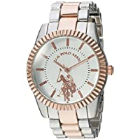 U.S. Polo Assn. Women's Quartz Watch, Analog Display and Gold Plated Strap USC40263