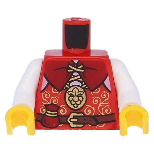 LEGO Castle - Minifiguren Oberkörper Kingdoms Weste mit Goldrand und Tasche in Rot