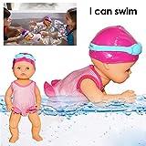AITOCO Kinder Wasserspielzeug Ich kann Schwimmen Mama Ich kann Schwimmen Puppe für Jungen und...