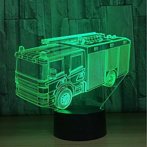 r-Lkw-Auto-3D 7 Farben FüHrte Nachtlampe FüR Kinder ()