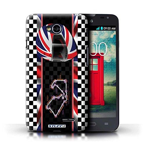 Kobalt® Imprimé Etui / Coque pour LG L70/D320 / Monaco/MonteCarlo conception / Série F1 Piste Drapeau UK/Silverstone
