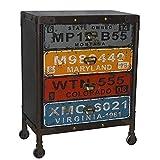 Kommode Schubladenschrank Möbel Industrie Loft Anrichte Sideboard Holz Metal 80 x 62 x 40 cm